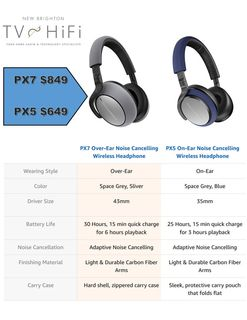 NEW PX5 & PX7 Bowers and Wilkins Noise Canceling Headphones
