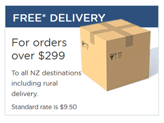 Free Delivery On All Orders Over $299*