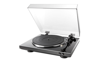 DENON TURN TABLE DP-300F BLACK